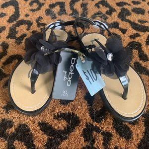 Girl's bebe Sandals (size 11/12)